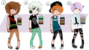 Casual Boy Adoptables//closed// by oliofer