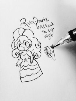 Rose Quartz Attack the Lighy style by StainedUsagi