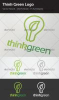 Think Green Logo Template by flatsguts