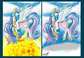 Trotting on the sun and clouds by Siberwar