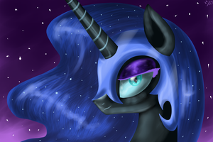 Nightmare Moon by BudgieFlitter