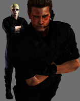 Wesker CVX Burned Up Close by a-m-b-e-r-w-o-l-f