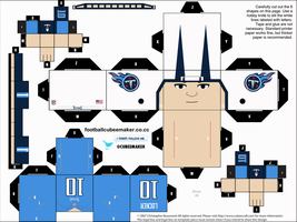 Jake Locker Titans Cubee by etchings13