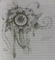 1 eyed spaghetti monster with slimy tentacles by p-l-u-m-b-u-m