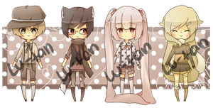 [CLOSED] Adoptables 9.8.13 by Lu-tan