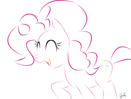Pinkie Pie line art by PinkiePieZ
