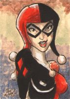 Harley Quinn Sketch Card ACEO by ChrisMcJunkin