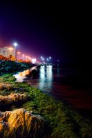 JEDDAH BEACH at night by thehonor2