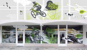 cyklosport shop window by emilioo