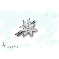 silver lilly hairpin by moonlightartistry