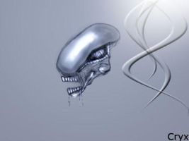 Alien Head by Cryxis