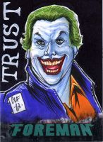 The Joker PSC ACEO by Chris Foreman by chris-foreman