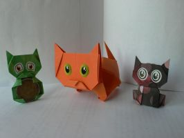 Origami : Cats by Coqkie