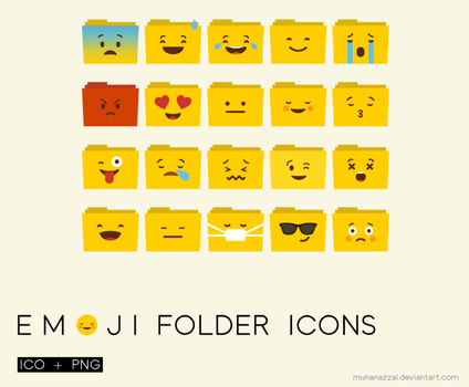 Emoji Floder Icons by MunaNazzal