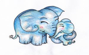 Elephant Cuddle by sivvus