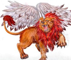 Winged Lion complete by StarlightAngel-Wolf
