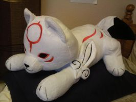 Okamiden Plush Pillow Side Vie by Skunk-Mantra