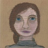 Self Portrait in Oil Pastels by TheRandomPhangirl