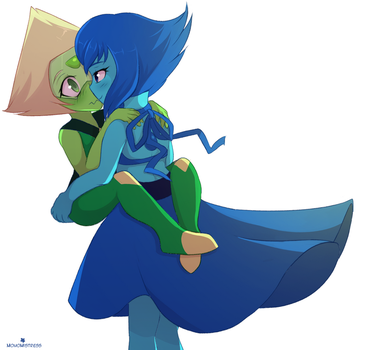 Green and Blue by MomoMistress