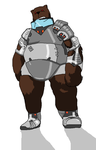 MS Painted Insanity: Armored Bear by HiddenSword