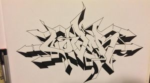 Nover outline I did for a wall (GWB) by NoverGWB