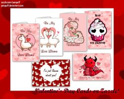 Valentine's Day Cards on Zazzle by YamPuff