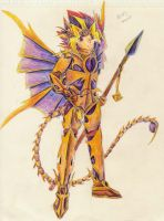 Atem the Scorpion Dragon Lancer by Aisheyru-Fox