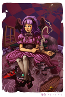 'Purple' Alice in Wonderland by Darsim