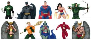 DC Set 1 - Justice League by SLewis18
