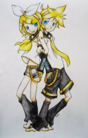 Vocaloid - Rin and Len by Nisai