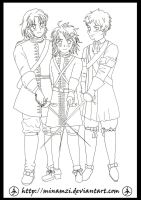 France-Ireland-Spain Lineart by minamzi