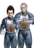Vegeta n Trunks by ShadCarlos