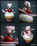 There is a Mew in my cupcake by DannArte