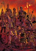 Kharaman Troops in color by SteveLeCouilliard