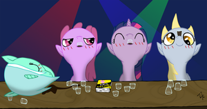 Drunken Ponies by Angelkiller777