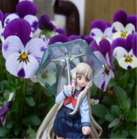 Chii with umbrella and pansy by Mako-chan89