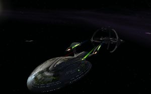 Kyoto Departing DS9 by tj-hawk