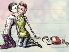Klaine afternoon pecks on the cheek by HorizontalProjection