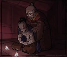 The Young Warrior's Surrender by mysketchbook