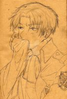 Rivaille-3 Sketch by Shinigamichick39