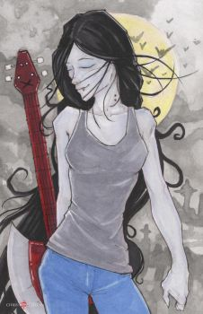 Marceline Adventure Time by ChrisOzFulton