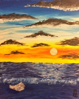 Sunset (Acrylic) by wortmore