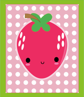Happy Strawberry by pullmeoutalive