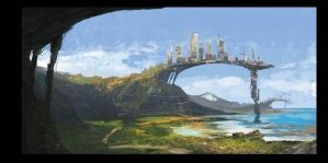 Less Gravity City by tediousSartre