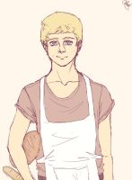 Peeta the baker by BlackNina