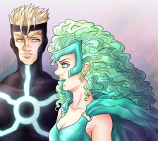 Polaris and Havok by Asenath23