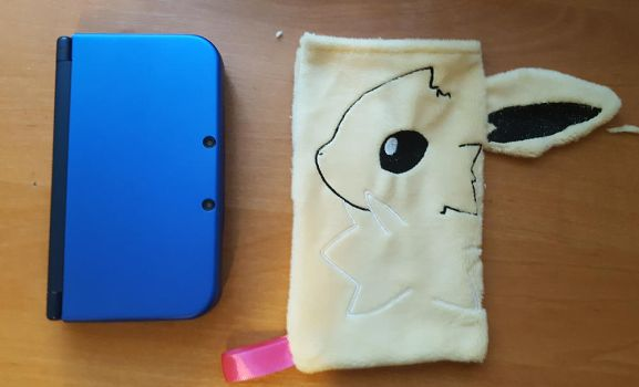 Jolteon new 3ds XL cover case by zukori