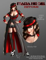 Mafia Hit Girl Hitomi by Digi-Ink-by-Marquis