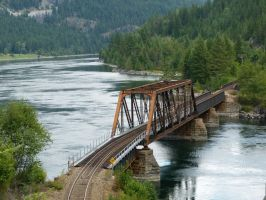 Kootenay River Railway Bridge Railroad by historicbridges