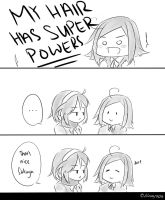 MM: My hair has superpowers by brewcha